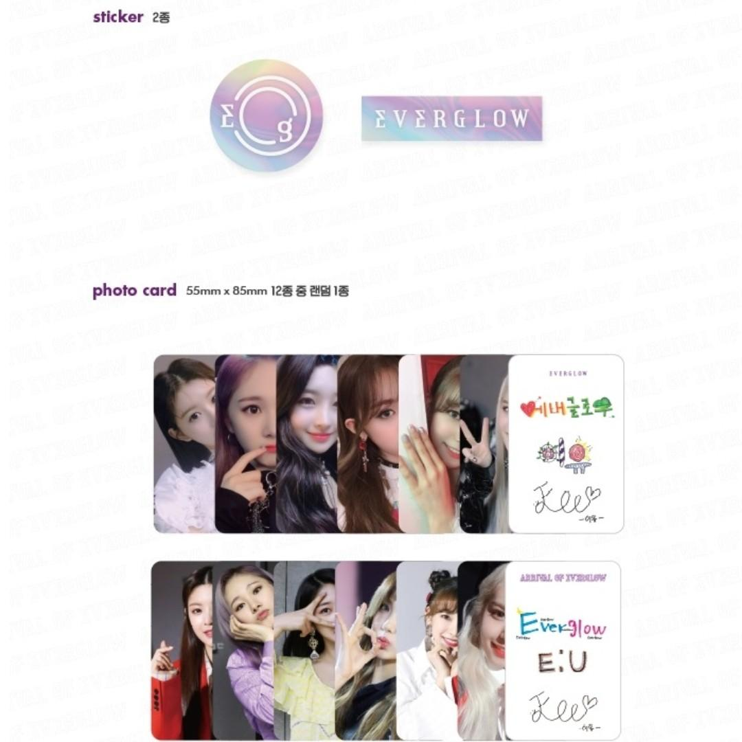 ALL MEMBERS SIGNED EVERGLOW 1ST SINGLE ALBUM 'ARRIVAL OF EVERGLOW'