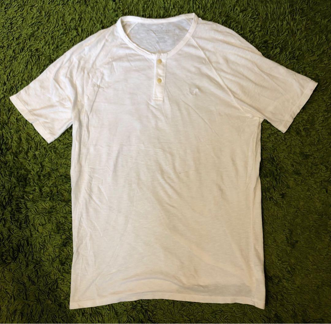 American Eagle Tall Short Sleeves White Tee L 白色短袖T恤 大碼