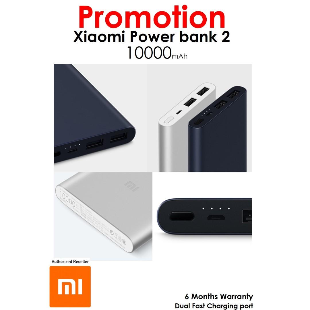 Authentic Xiaomi Mi Powerbank 2 10000mAh
