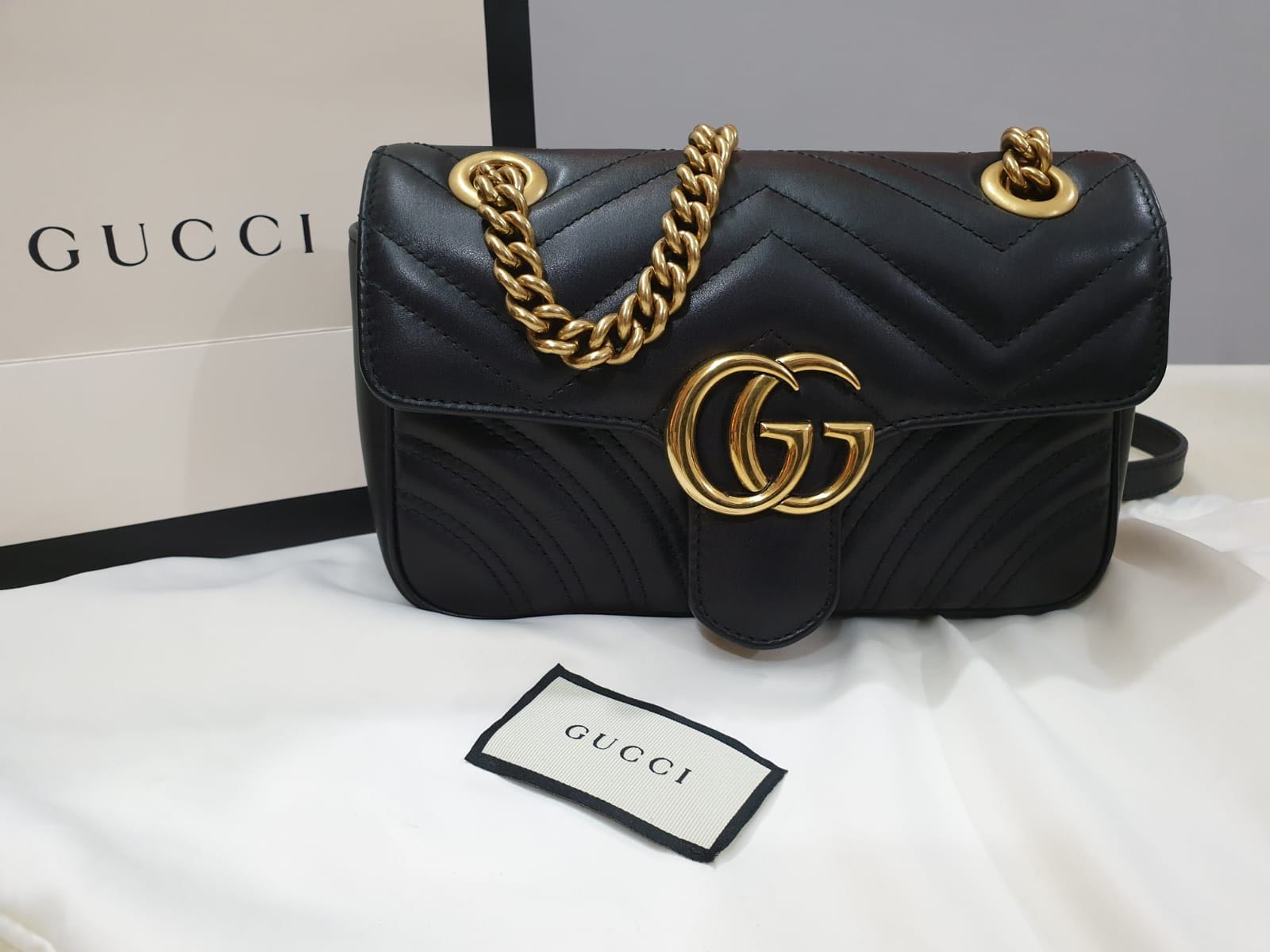 010b21c9258 AUTHENTIC Gucci GG Marmont Matelassé Mini Bag