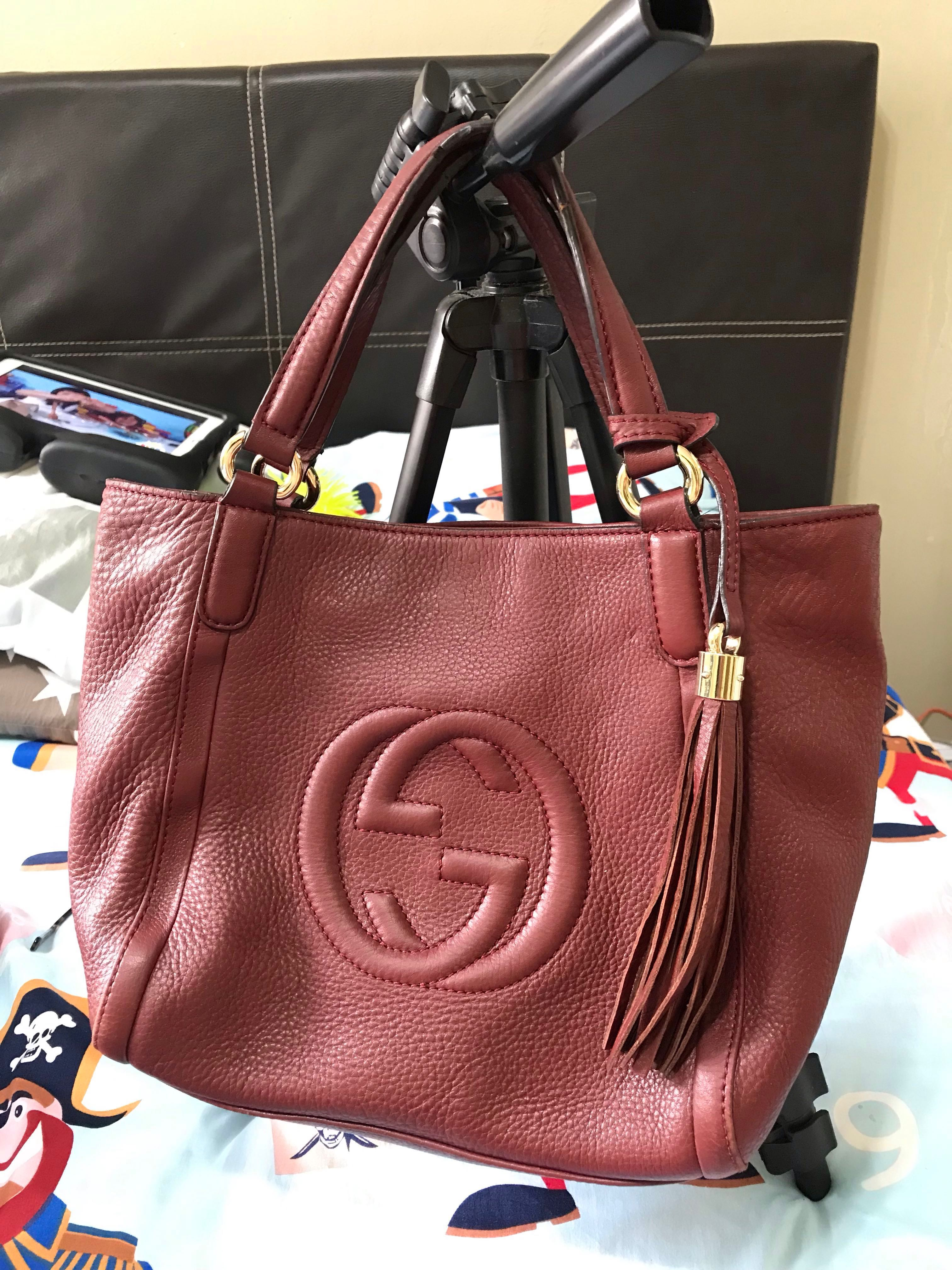 856aaac995a08c 💯Authentic Gucci Soho mini tote bag, Luxury, Bags & Wallets, Sling ...