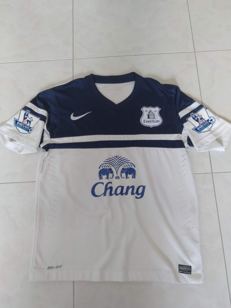 b2a2d1d0626 Authentic Nike Everton FC 2013/2014 Football Away Kit with Barkley ...