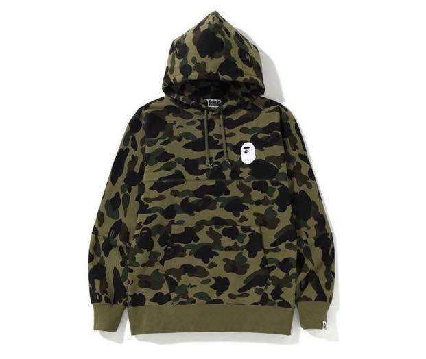 01c2de56a26a Bape Camo Big Logo Wide Hoodie