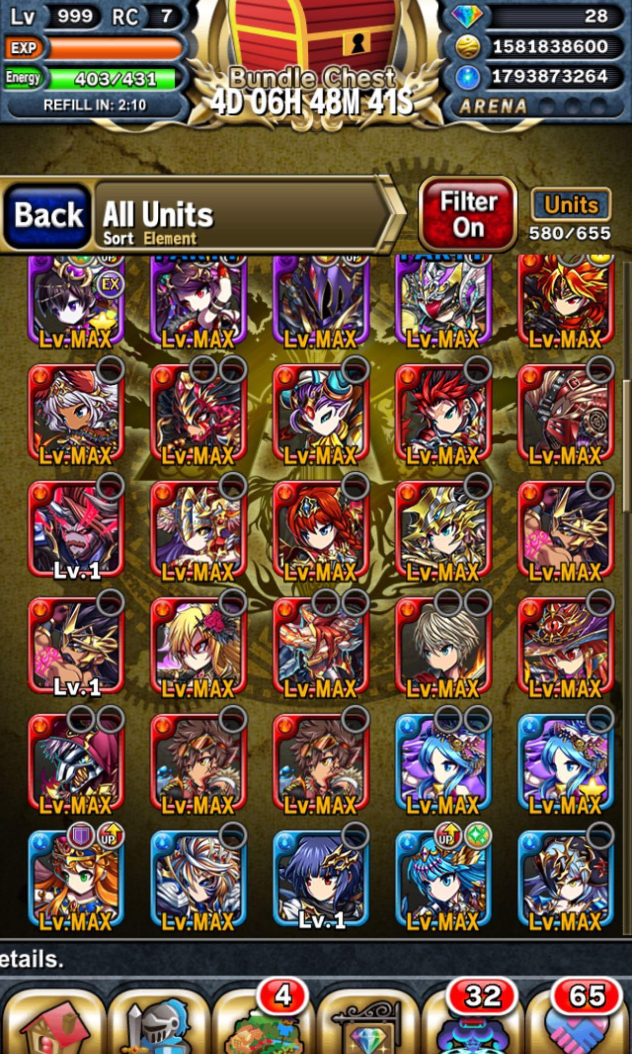 Brave Frontier HIGH END Account