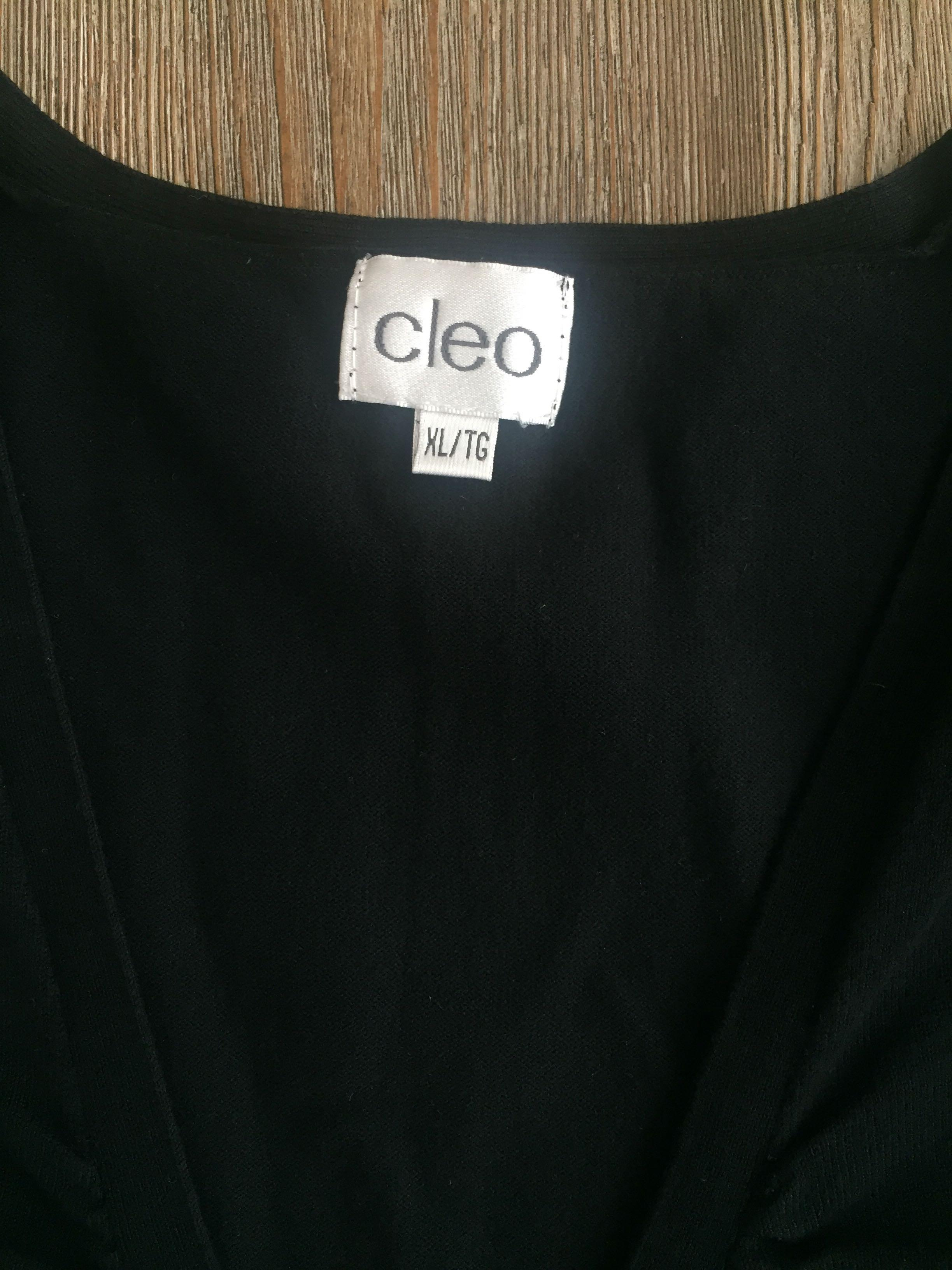 Cleo's Black Sweater Vest XL