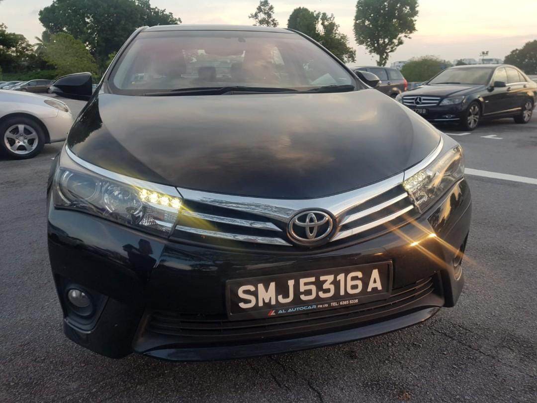Cool black Toyota Altis for rental , Contact us at 88115335/90998833