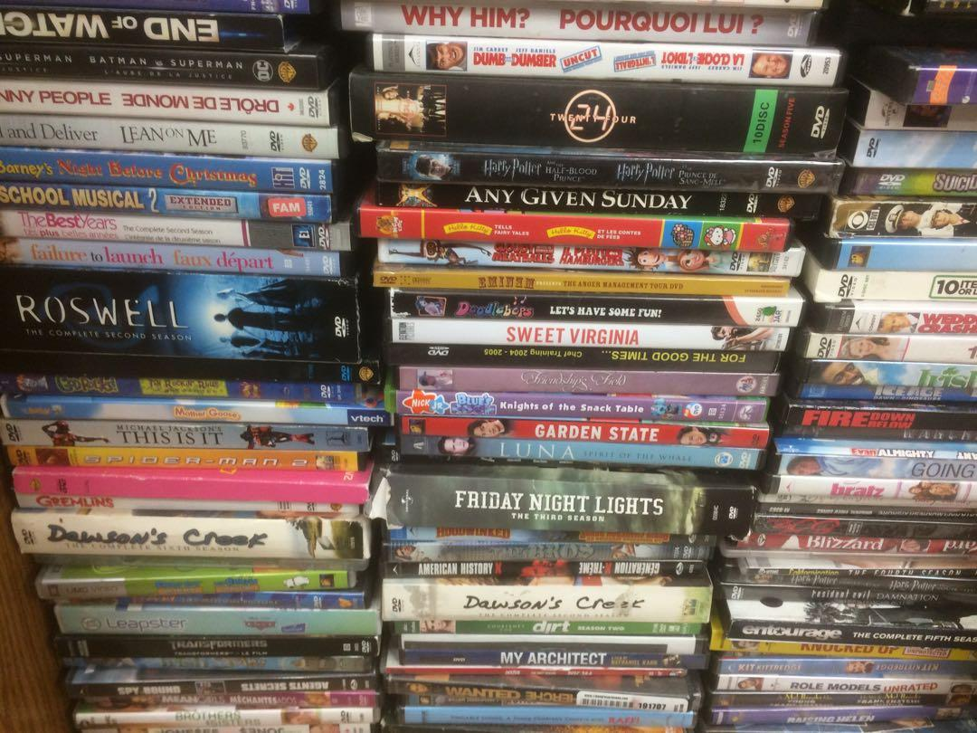 DVDs, Blu-Rays, Seasons if shows