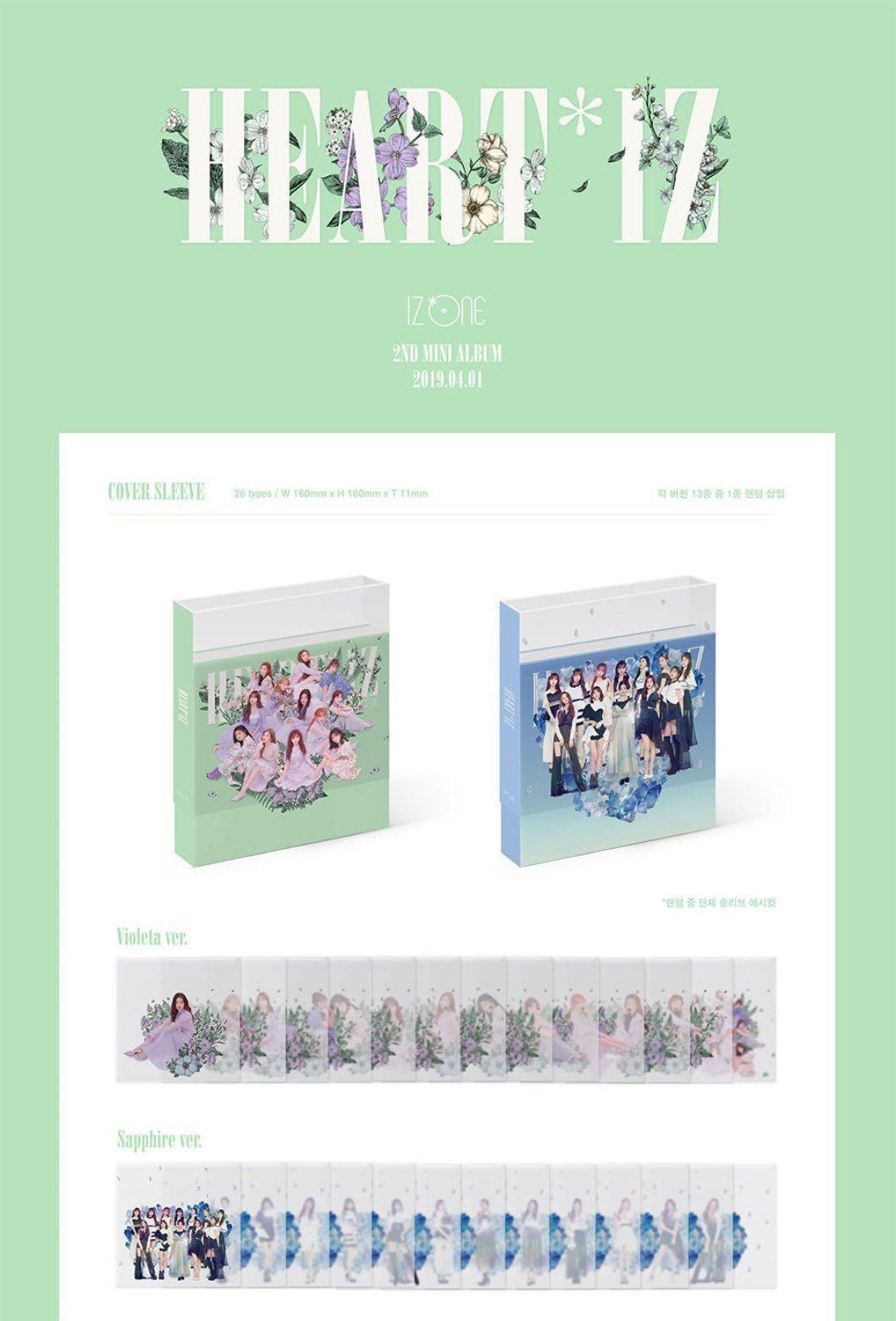 [EMS PO] IZ*ONE IZONE 2nd Mini Album Heart*Iz Heartiz