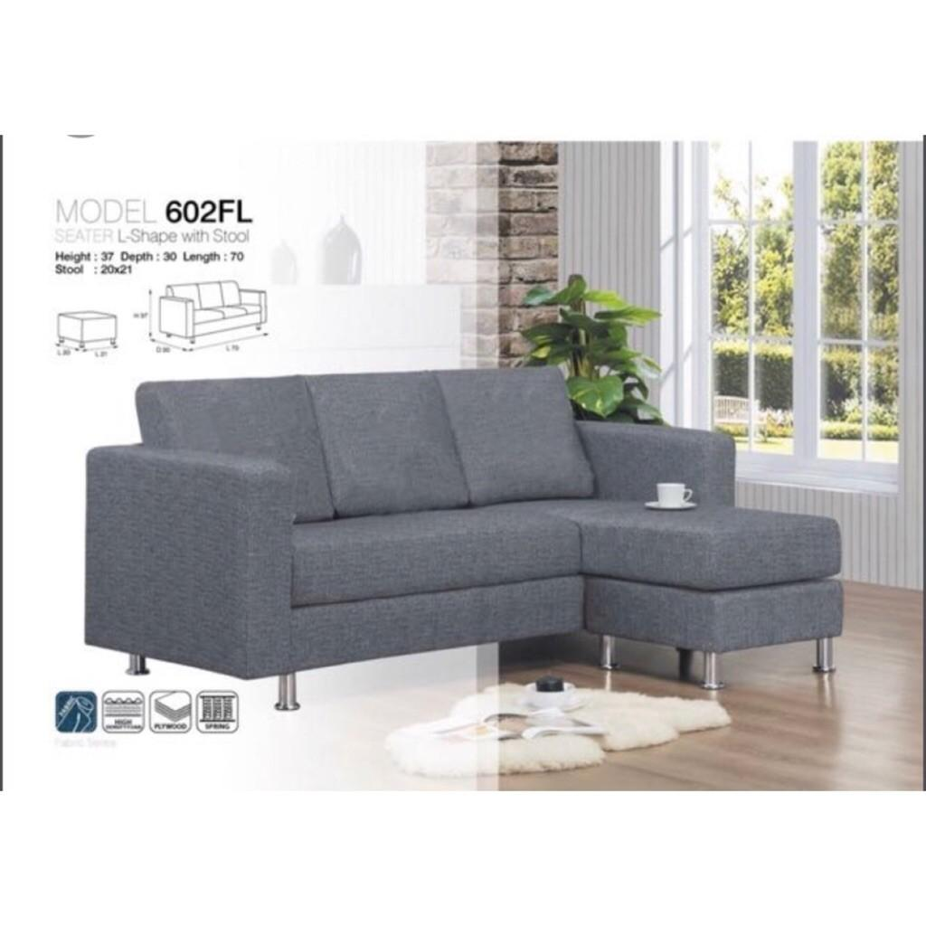 Fabric Grey Sofa Set Furniture Sofas
