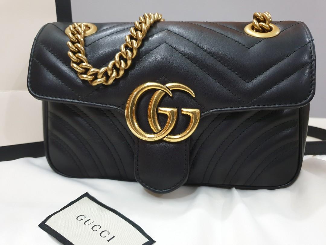 014efc98f4d1 Gucci Marmont Flap Mini (22cm) LNIB 8.5
