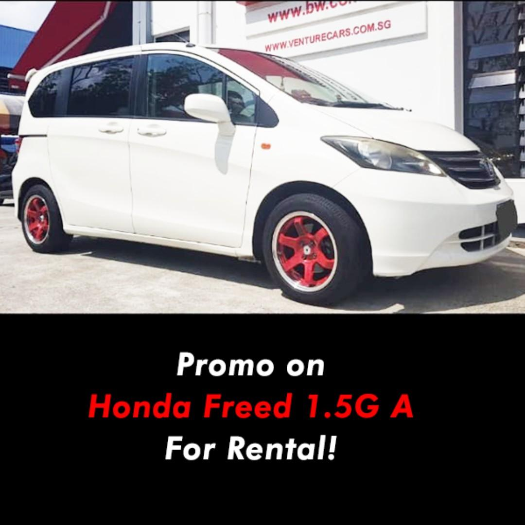 Honda Freed 1.5  7-seater for Rental