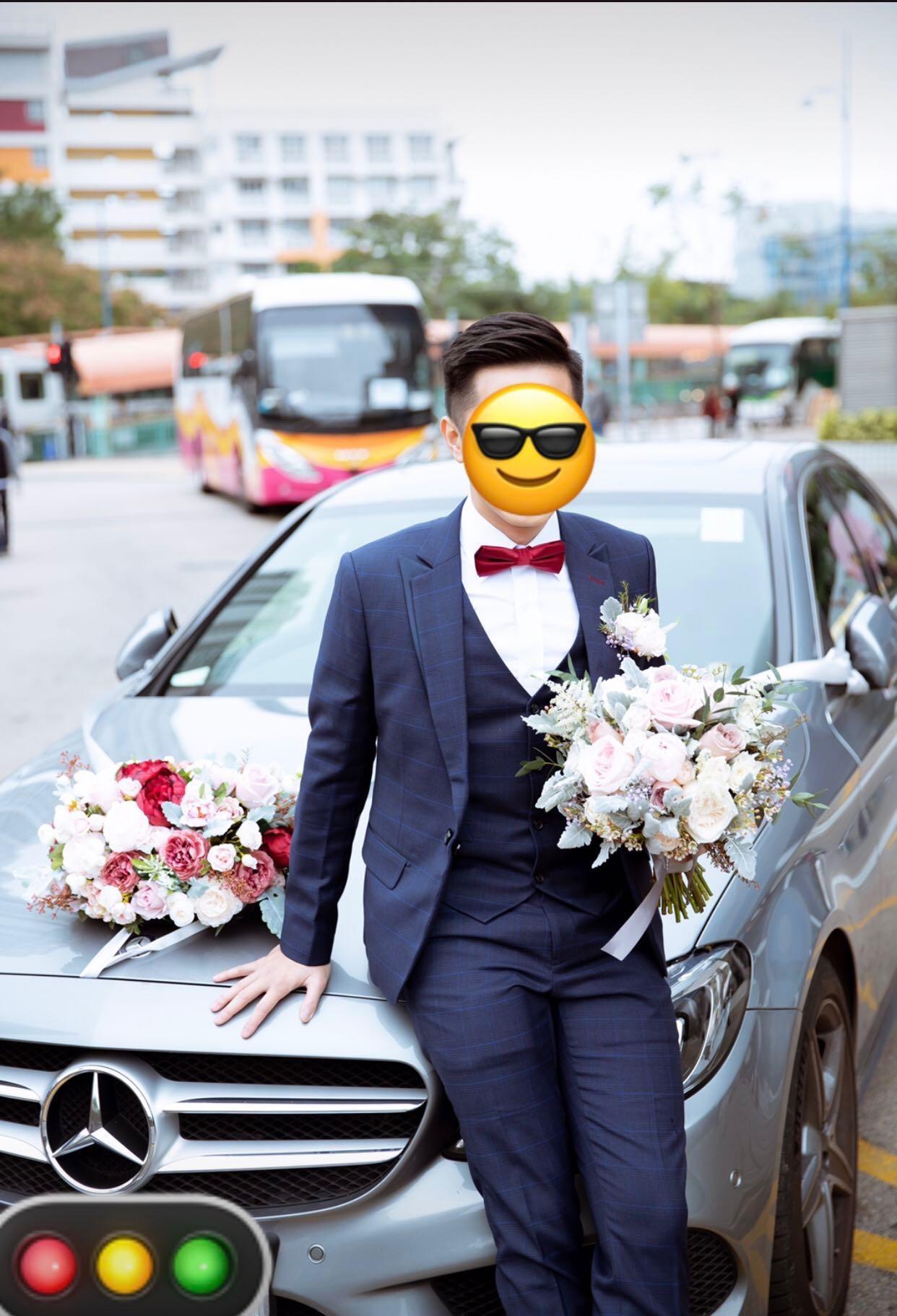 Lemongrass Wedding 車頭花(絲花)
