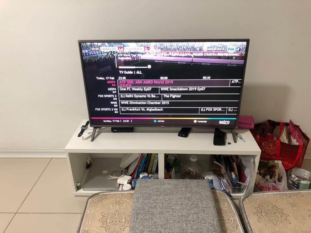 LG SMART UHD 4K TV 43 INCH + TV BENCH