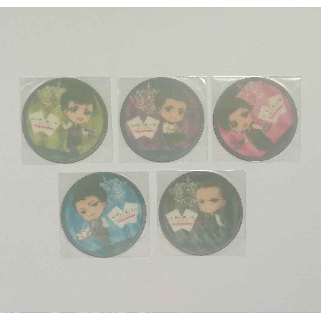 (Limited + Exclusive) Joker Game x Animega Cafe - Kaminaga / Gamou Jirou / Amari / Tazaki / Yuuki - Coaster