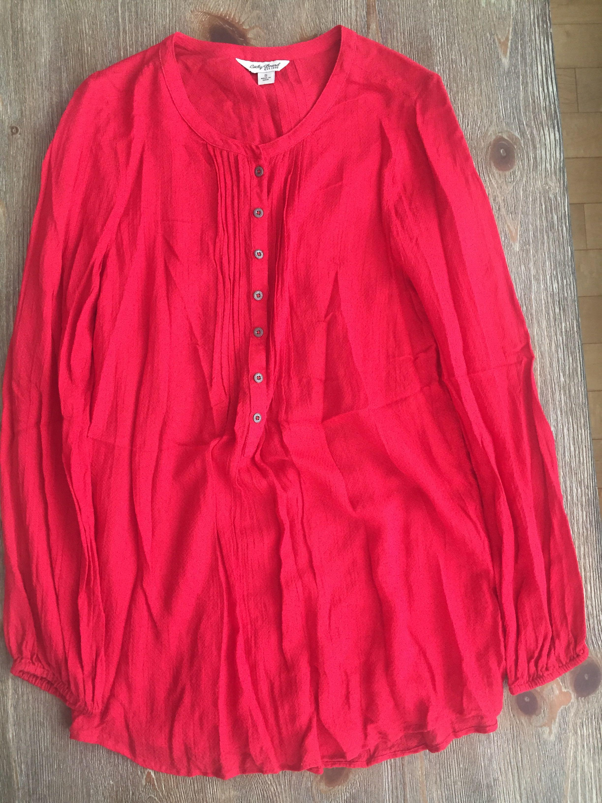 Lucky Brand Long-Sleeve Blouse (M/L)