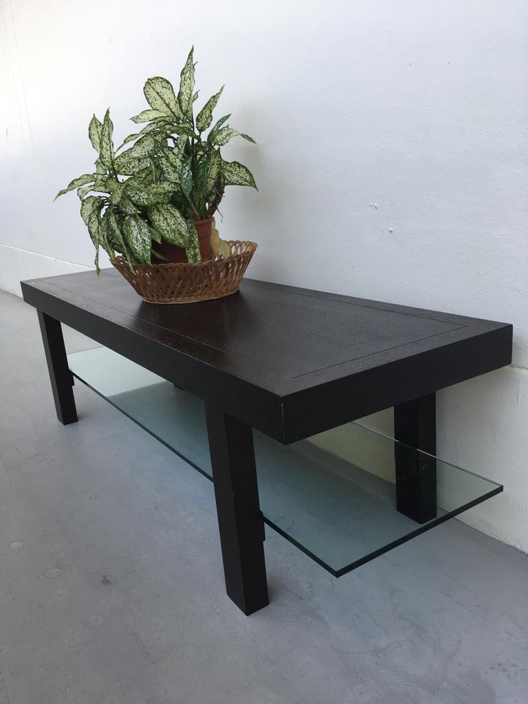 Modern Solid Darkwood Coffee Table Tv Console Furniture Tables