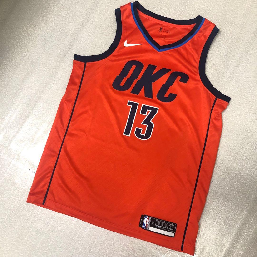 meet 0f1ba 12ea3 Nike NBA Earned Edition Swingman Jersey - Paul George OKC ...