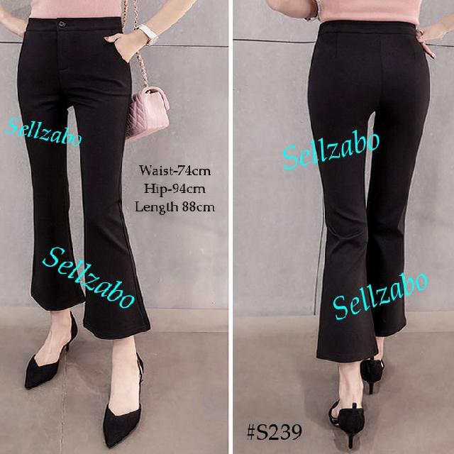 217db1d7e5bae #S239 Size XL Pants Petite Wide Legs Bell Bottom Flattering Flare Vintage  Retro Boho 70s 80s Muslimah Long Trousers Sellzabo Wear Ladies Girls Women  ...