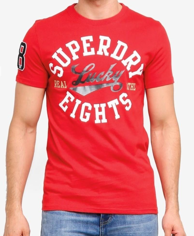 SUPERDRY LUCKY 8S VARSITY CNY TEE State Red T-Shirt