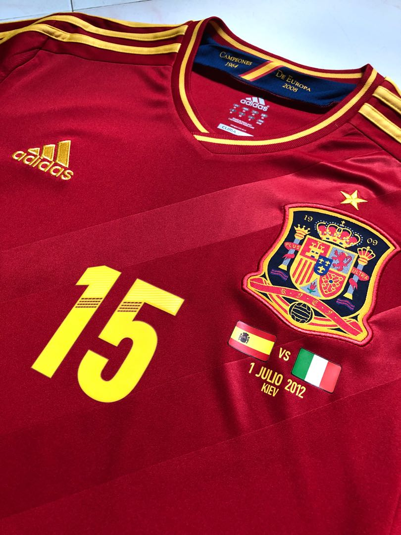 375ef0946c2 Spain Euro 2012 Home Finals Jersey (Red)