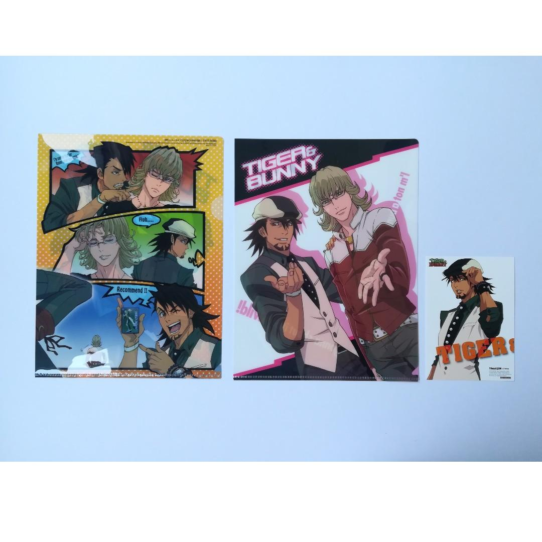 TIGER & BUNNY - Kaburagi T. Kotetsu & Barnaby Brooks Jr. - Clear File Set