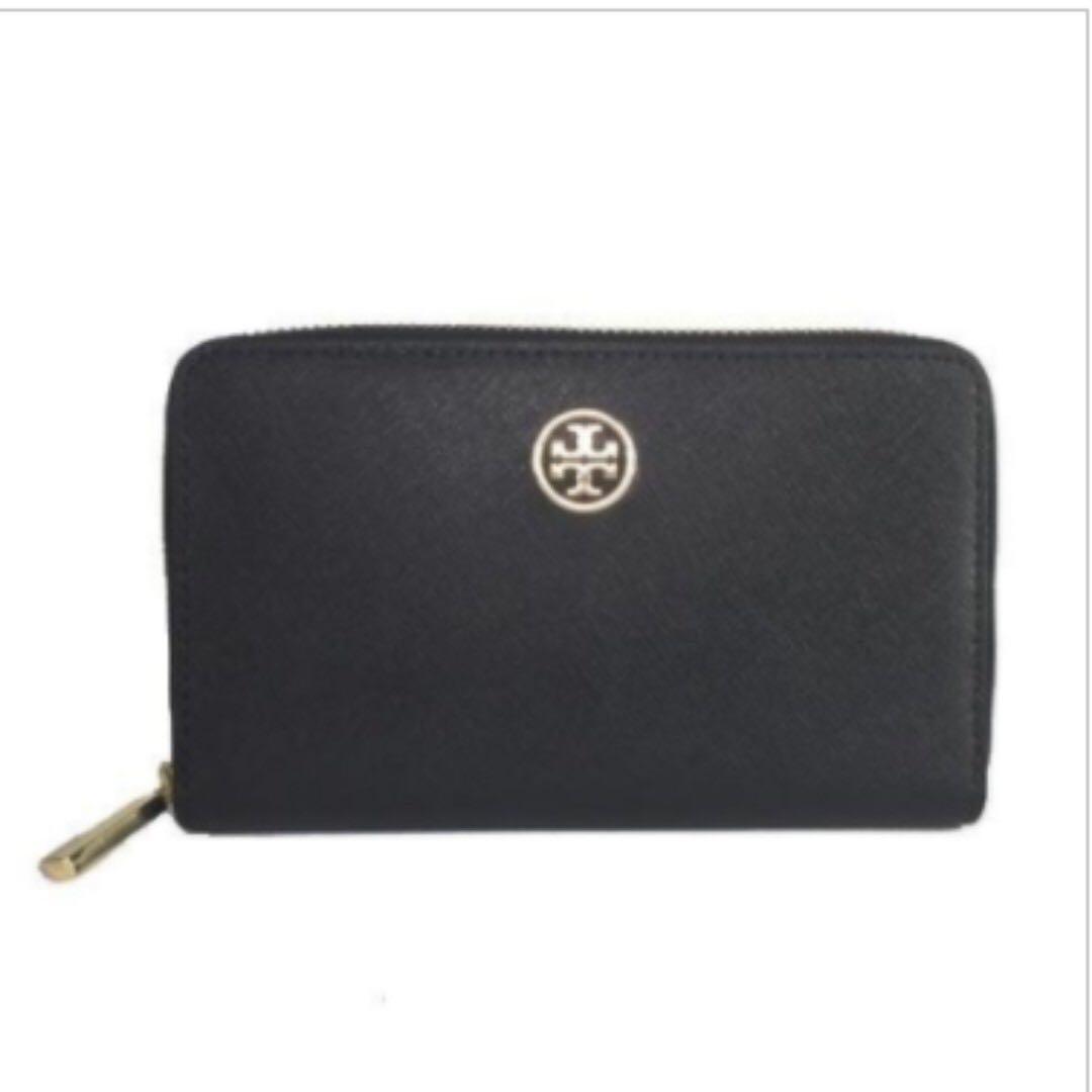 2251a5432e2 Tory Burch Robinson Mini Zip Continental Wallet Black, Women's ...