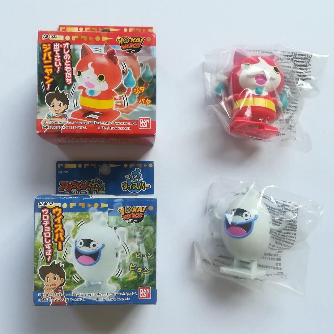 Yokai Watch - Jibanyan / Whisper - Twist Spring Toy / Action YoKai Series Backflip