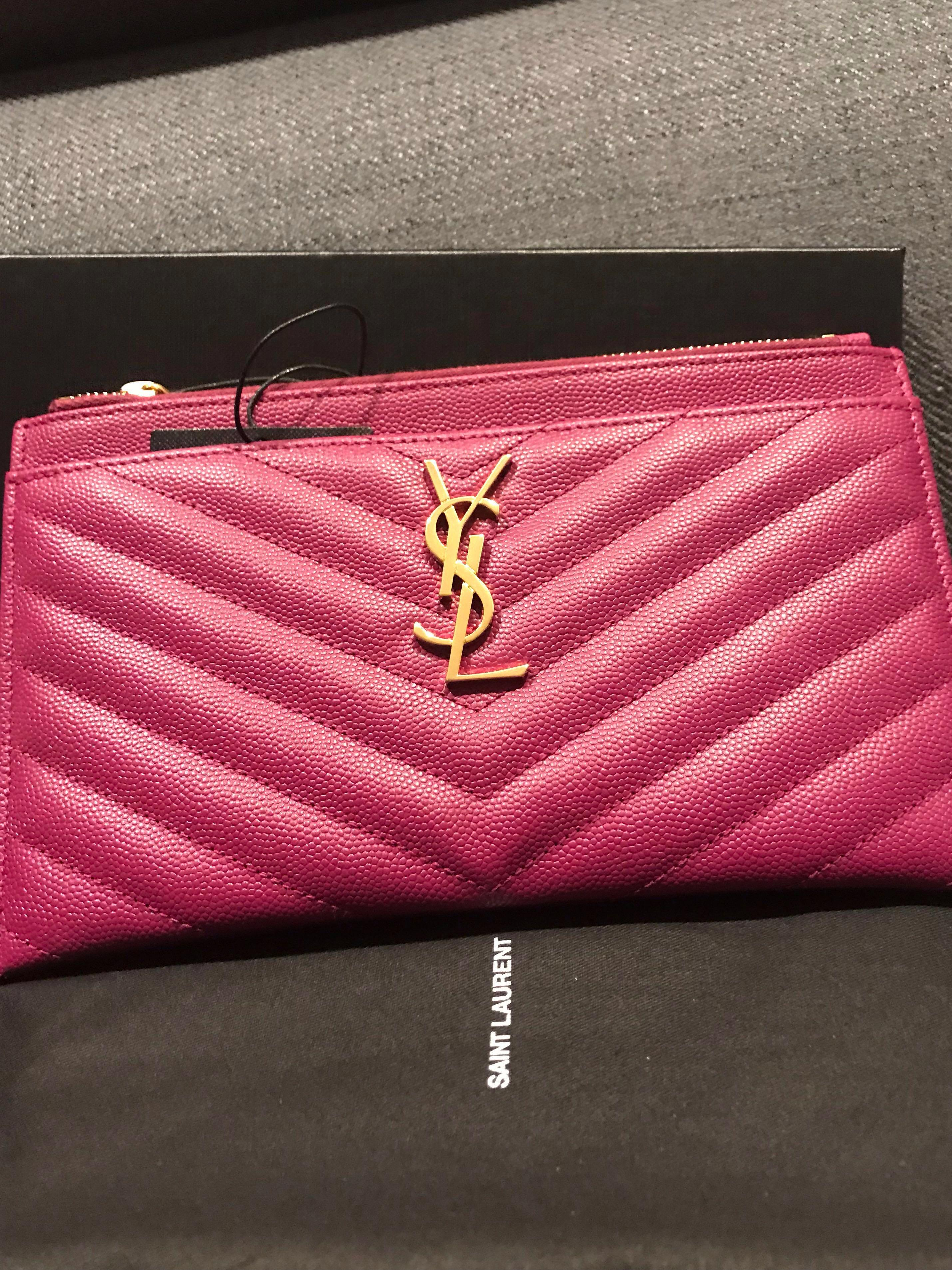 ff5b68528e YSL Monogram Bill Pouch, Luxury, Bags & Wallets, Clutches on Carousell