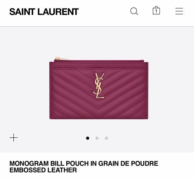 5dcc0cfdeb YSL Monogram Bill Pouch, Luxury, Bags & Wallets, Clutches on Carousell