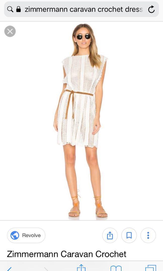 Zimmermann white crochet dress
