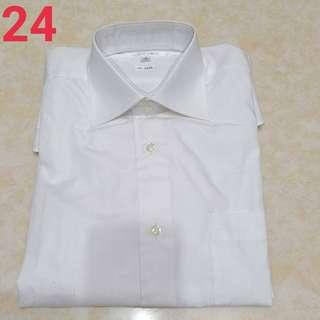 🚚 24、白色素面男士襯衫$100