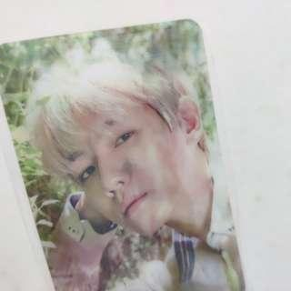 EXO Baekhyun Lenticular Photocard