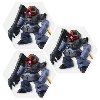 FW Gundam Converge No. 32 x3 黑色三連星