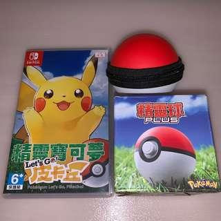 Pokemon Let's Go 比卡超 連精靈球+保護套