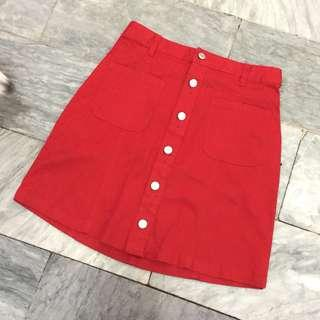 Brand New Colza Button down A-Line Skirt