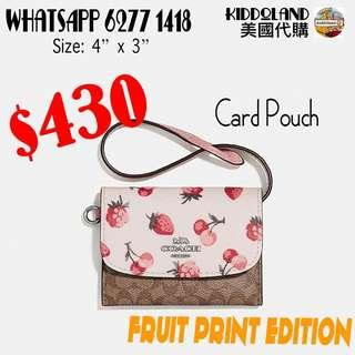 Coach card pouch (fruit print edition)