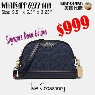 Coach Ivie crossbody (signature denim edition)