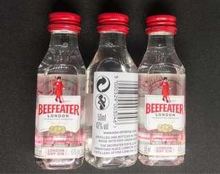 Beefeater London Dry Gin 50ml x3