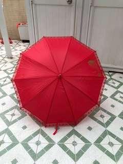 出門紅傘 90%新
