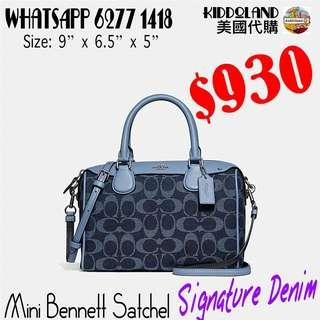 Coach mini Bennett satchel