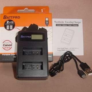 LP-E12 LPE12 USB雙位充電器合Canon EOS M50相機請看內容(香港行貨由BATTPRO免費一年保用