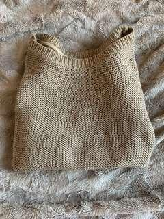 M boutique beige sweater