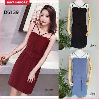 D6139 midi dress polos dress pesta polos dress sabrina dress scuba dress import