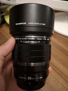 Olympus 25mm f1.2 pro 無盒 淨鏡