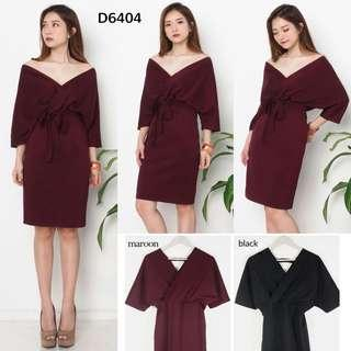 D6404 midi dress sabrina polos dress pesta dress tali dress ikat dress scuba polos