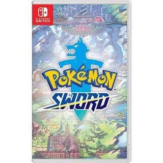 🚚 Nintendo Switch Pokemon Sword Pre Order