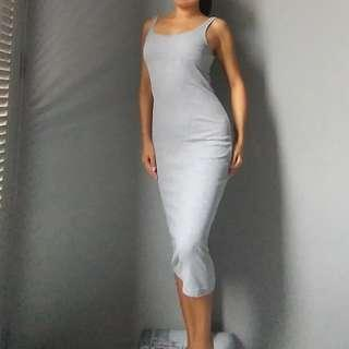 🚚 Midi DRESS bodycon grey