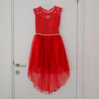 BUY 1 GET 1 FREE Dress Pesta Merah Bagus Banget