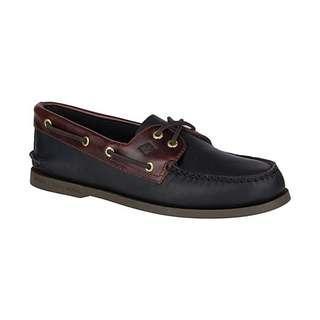 Sperry's Men's Authentic Original Leather Boat Shoe, Black Ameretto, US8