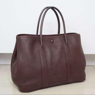 Hermes Garden Party Leather 30